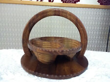 Hand Made Collapsible Foldable Wood Wooden Multi Layer Basket Storage Holder