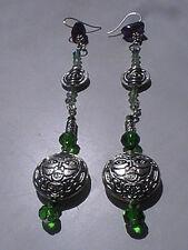 celtic earrings BLESSED spirit ancestor Amethyst green man pagan wiccan magik