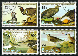Penrhyn 311-314, CTO. Birds. Duck, Sage grouse, Sandpiper, 1985