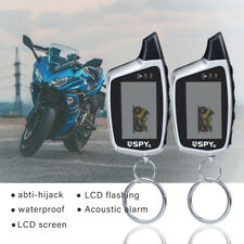 Motorcycle Car Security Alarm System Anti-theft With Remote Control 2 Way LCD