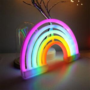 Rainbow LED Neon Sign Light Wall Home Decoration Night Light Lamp for Kid Room