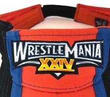 Wrestlemania XXIV (24) Orlando FL Wrestling Sun Visor Authentic Hat Cap 2008
