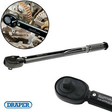 "Draper Ratchet Torque Wrench 1/2"" Square Drive 30 - 210Nm (22.1-154.9lb-ft) Tool"