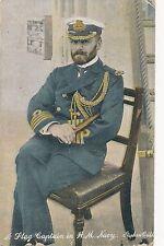 POSTCARD  MILITARY WWI  NAVY    Flag  Captain