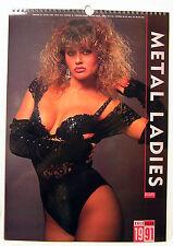 """1991/2019 Metal Ladies Pin-Up Calendar-12 prints- 12""""x16"""" (FW-CAL-ML91)"""
