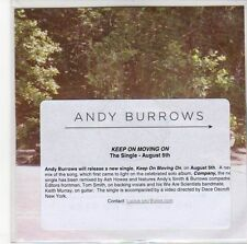 (EE298) Andy Burrows, Keep On Moving On - 2013 DJ CD