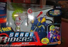 X MEN BEAST SPACE RIDERS BOXED SET WITH MOTORIZED DEEP SPACE COSMIC BLASTER MIB