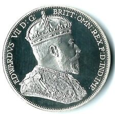 Australia Edward VII Unofficial Silver Piedfort Pattern Double Florin Unique 999