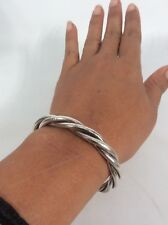 Silver 925 Cuff Bracelet Td-75 Beautiful Vtg Taxco Mexico Sterling