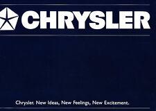 1988 Chrysler ES GTS LeBaron Voyager Daytona 42-page Export Car Brochure Catalog