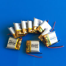 10 pcs 180mAh Li-Po 602020 Rechargeable Battery 3.7V for Headset Bluetooth MP3