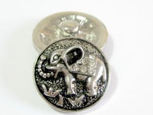 Click System Druckknopf Schmuckgestaltung Metall Elefant Glitzer 18 mm