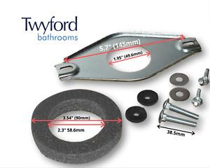 Twyford Close Coupling Toilet Pan Fixing Metal Plate & Bolts Coupling Kit