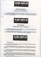 GARY GRAHAM MICHELE SCARABELLI ALIEN NATION ORIGINAL 1989 FOX TV PRESS MATERIAL