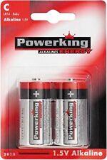 100 Stück Batterien Powerking C LR14 - Baby Alkaline 1.5V Batterie