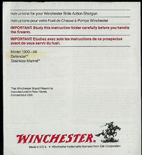 1992 Winchester Model 1300 All Defender SS Shotguns Owner's Manual & Take Down