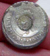 1831 CR-F (COSTA RICA) 1/2 REAL (SILVER) w/ COUNTERMARK (LION) --very rare date-