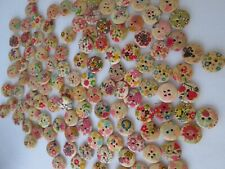 natural /  floral buttons -15mm  round x 130 buttons
