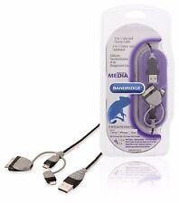 CABLE DE CHARGE ET SYNCHRONISATION USB MicroUSB DOCK LIGHTNING 1 METRE