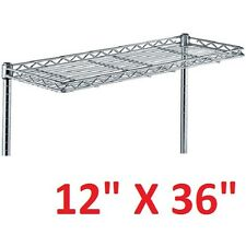 "METRO 12"" X 36"" SUPER ERECTA HEAVY-DUTY CANTILEVER STYLE WIRE SHELVING **NNB**"