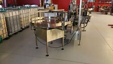 "NEW 48"" ROUND FEED TABLE, BOTTLE TURNTABLE, ROTARY BOTTLE UNSCRAMBLING TABLE"