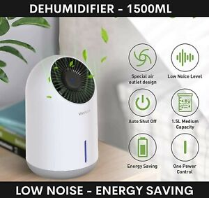 1500ml Dehumidifier Vavsea Portable Electric Ultra Quiet For Damp Mould Moisture