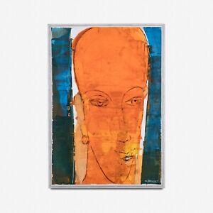 Large Mixed Media Painting by Egyptian Artsit Adel El Siwi (b.1952)