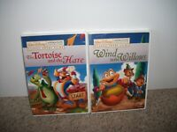 DISNEY Wind in the Willows + Tortoise and the Hare NEW 2 DVD LOT Ships Free USA