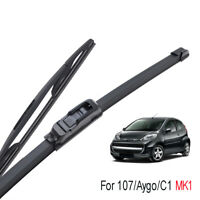 """26""""12"""" Front Rear Wiper Blades For Peugeot 107 Toyota Aygo Citroen C1 2005-2014"""