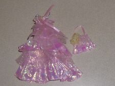 Jenny Takara original outfit - party dress and bag - pink - good for Barbie.