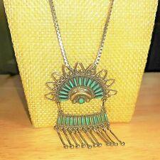 New ListingOld Zuni Pueblo S Sanchez Sterling Silver 29 Turquoise Needlepoint Necklace #P