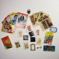 Lot of 26 - Vintage Cracker Jack Toys & Wonder Bread Football Cards