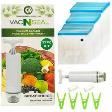 Sous Vide Bags Kit for Sous Vide Cookers - 30 Reusable Food Vacuum Sealer Bags