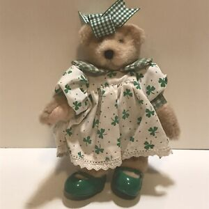 """Muffy Vanderbear 8"""" Tall - St Patricks Day Outfit and Bear Muffeen with Tag"""