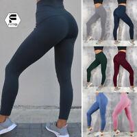 Women Sport Pants High Waist Yoga Fitness Leggings Training Gym Scrunch Trousers