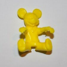 MICKEY MOUSE Disney Yellow Pencil Topper, Cereal Bowl figure 1980s Premium Toy