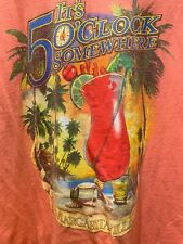 JIMMY BUFFETT MARGARITAVILLE Men's Shirt Pigeon Forge 5 O'clock Somewhere XL