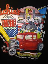 "Richie's Real American Diner 100% Cotton T-Shirt 3XL pit to pit 28"", 34"" long"