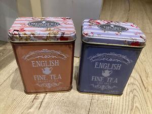 English Tea Tin Caddy's