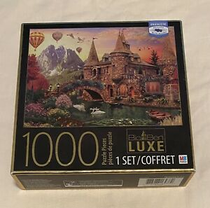 """BIG BEN Luxe Puzzle 1000 Piece """"Castle #2"""" Milton Bradley"""