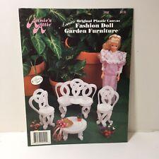 Fashion Doll Garden Furniture Plastic Canvas Pattern Annie's Attic