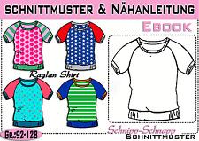 Shirt 2 Varianten Gr:128-170 Schnittmuster /& Nähanleitung Hoodie