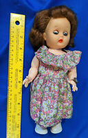 1950s Fairyland Toys Doll Hard Plastic Rubber Head Sleepy Eye Jointed  VTG