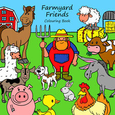 Childrens Colouring Books - Farmyard Friends - Farm Animals - For Boys & Girls