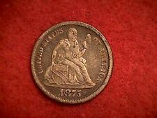 1875 Seated Liberty Dime .900 Silver Philadelphia