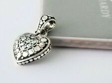 John Hardy - Sterling Silver Dot Collection Heart Charm Pendant - Stunning!
