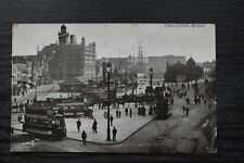 More details for vintage postcard tram centre bristol posted c1913
