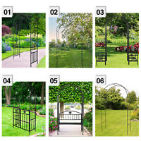 Metal Garden Arbor Wedding Arch Outdoor Arch Trellis for Climbing Plants Decor