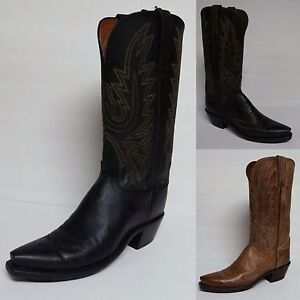 LUCCHESE WOMEN'S MAD DOG GOAT LEATHER COWGIRL WESTERN BOOTS N4554  N4559 N4540