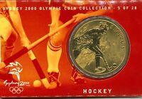 Australian Mint $5 Bronze Coin Hockey Folder Sydney Olympics Commemorative issue